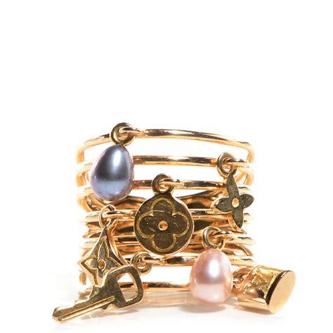 Louis Vuitton Merica Gold louis vuitton 18k yellow gold pearl monogram ring 54 us 6