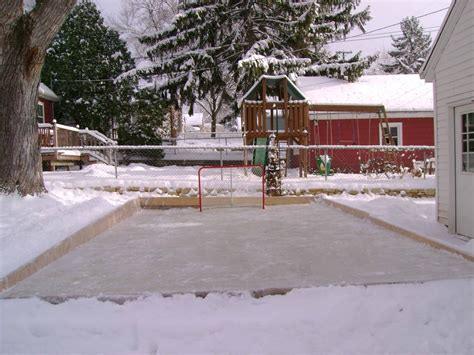 backyard ice backyard rinks