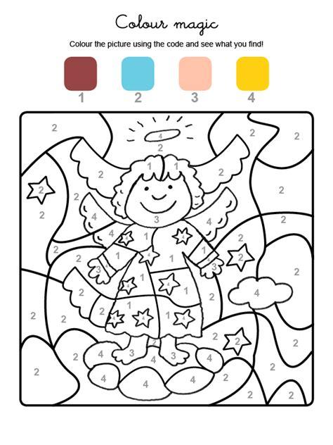 dibujos de navidad para colorear en ingles colour by numbers 225 ngel de navidad
