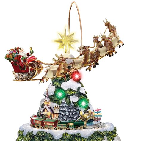 28 best moving tree topper flying santa animated