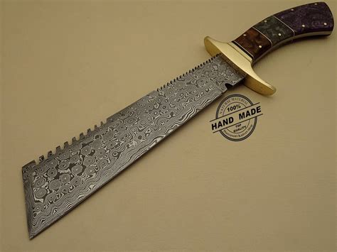 knives or knifes best damascus chopper bowie knife custom handmade damascus