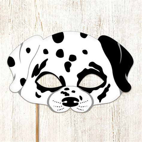 printable puppy mask dalmatian dog mask printable animal childrens by