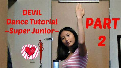 tutorial dance super junior devil super junior mirrored dance tutorial part 2 youtube