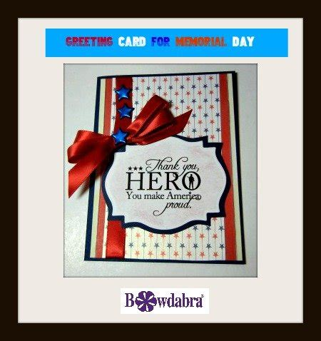 quick and easy sweet card for memorial day | handmade