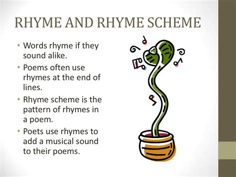 rhyme and rhyme scheme words