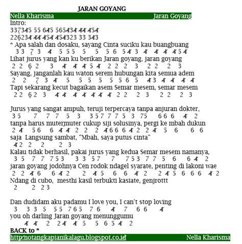 lagu jaran goyang not angka lagu nella kharisma jaran goyang not angka terbaru