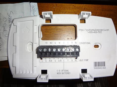 question   honeywell thermostat    honeywell