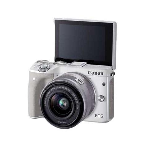 Canon Merah jual canon eos m3 kit ef m15 45mm putih harga dan