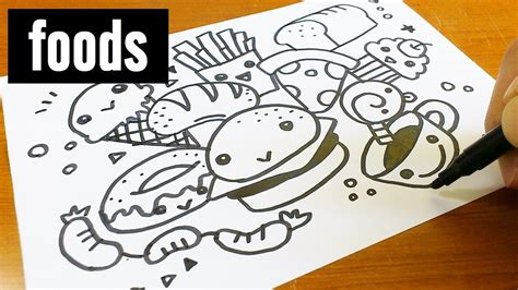 how to make a on doodle how to draw kawaii doodle foods doodle for