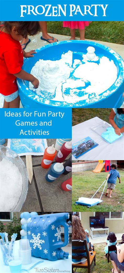 frozen themed party games frozen party games and activities two sisters crafting