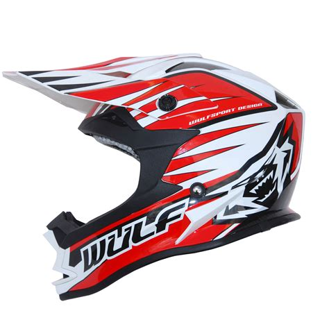 white motocross helmet wulfsport advance white black motocross helmet