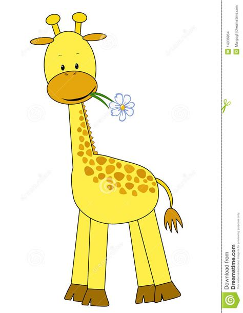imagenes de jirafas bebes en caricatura jirafa y flor del beb 233 imagenes de archivo imagen 14936864