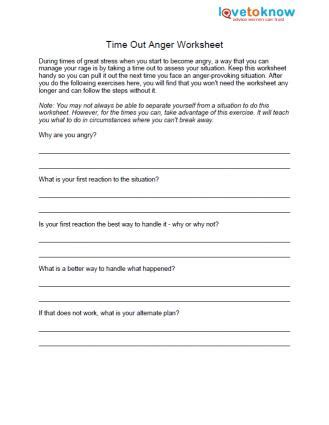 Honesty Worksheets For Adults by 6 Time Out Exercise During Times Of High Emotion It Can