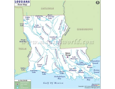 louisiana map cities and rivers buy louisiana river map