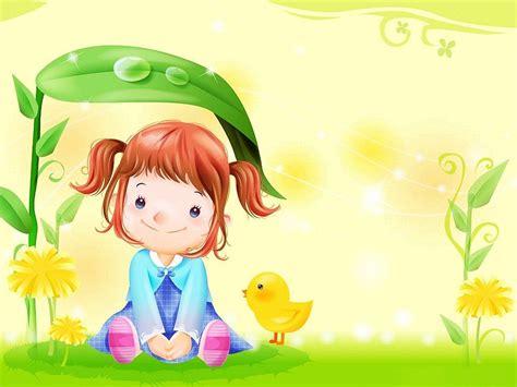 wallpaper desktop cute cartoon cute girl cartoon paint wallpaper free download 2392033