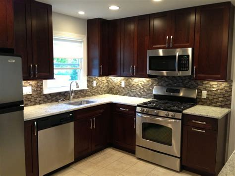 kitchen remodel dark cabinets kitchen remodel dark cabinets backsplash stainless steel appliances tile floor small