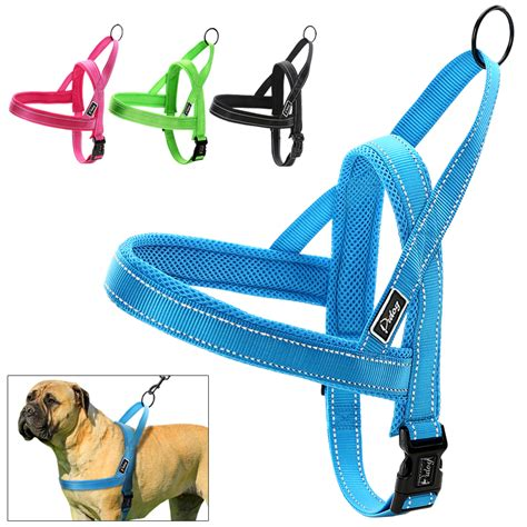medium harness no pull fit reflective stitching harness for small medium large