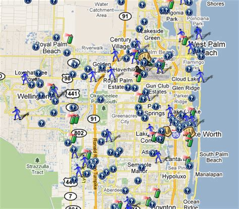 palm county florida map spotcrime the s crime map april 2011