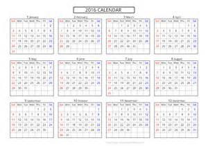 a4 calendar template calendar 2016 template printable pdf image 10 templates