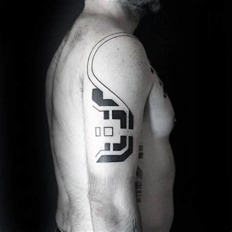simple tattoo on shoulder 50 simple line tattoos for men manly ink design ideas