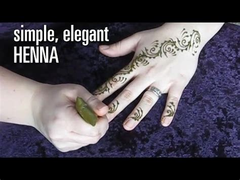 how to do a fast amp elegant henna tattoo design swirls