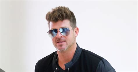 robin hecke robin thicke spends time with amid custody battle with