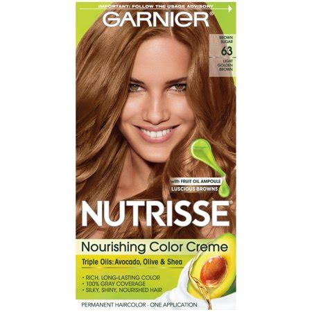 brown sugar hair color garnier nutrisse nourishing hair color creme browns 63