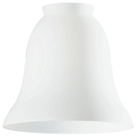 Westinghouse 4 3 4 In Handblown White Opal Bell With 2 1