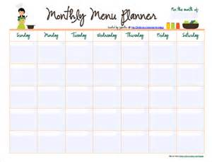 Monthly Meal Plan Template by 10 Monthly Menu Templates Free Sle Exle Format