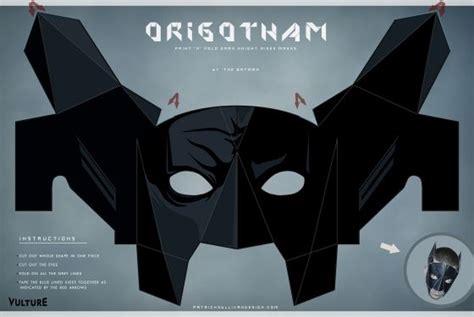 free printable vulture mask batman diy paper masks uttz kruph pinterest