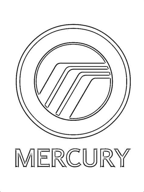 Coloring Page Mercury Logo Coloring Pages Mercury Coloring Pages