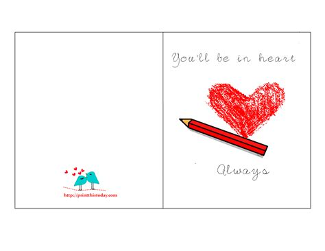 printable love card for her romantic cards for him