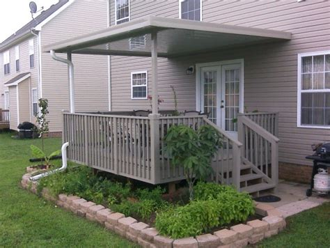 permanent deck awnings metal awnings for decks home design ideas