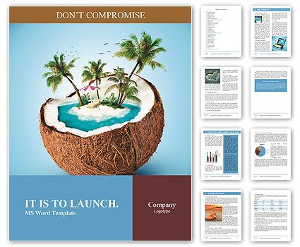 identification card ellie island template imaginary tropical island in the coconut word template