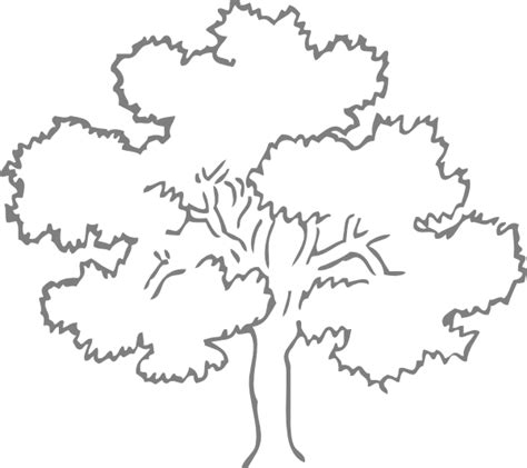 Oak Tree Template grey oak tree clip at clker vector clip
