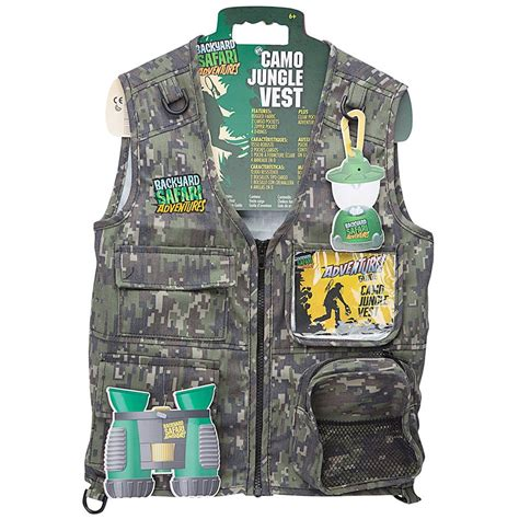 backyard safari vest backyard safari kids explorer camo jungle vest