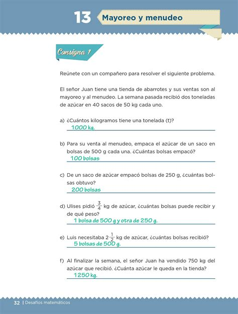 preguntas con kilogramos mayoreo y menudeo bloque i lecci 243 n 13 apoyo primaria