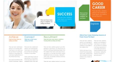 career brochure template career fair tri fold brochure template career fair tri