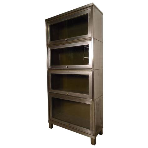 industrial four stack metal bookcase at 1stdibs