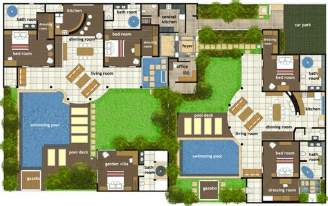 bali villa layout plan bali house plans google search other pinterest