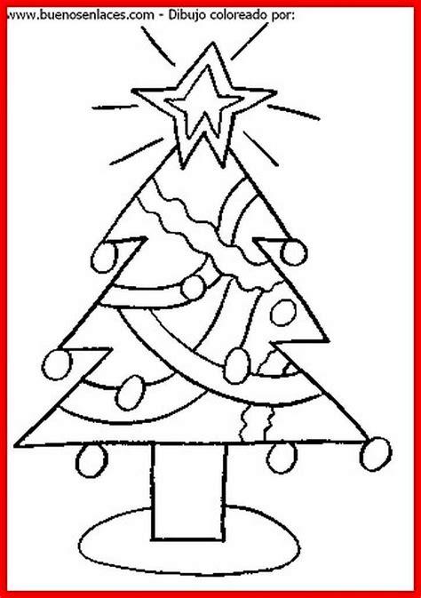 dibujo de arbol de navidad para colorear e imprimir