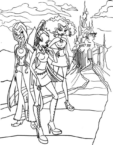 winx club coloring pages for kids coloringpagesabc com