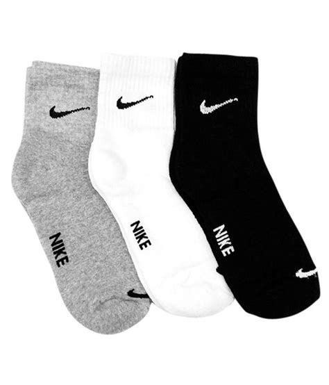 sock boots india nike multicolour cotton ankle length socks pair of 3 buy