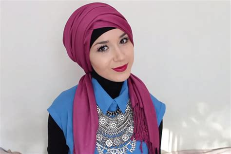 tutorial turban casual hijab fashion casual the new trend for 2015