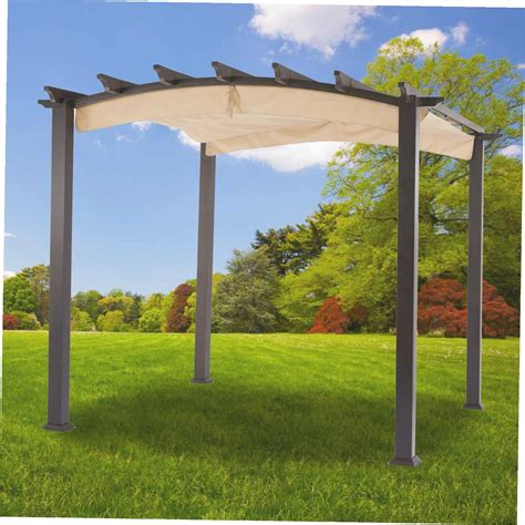Home Depot Pergola Beautiful Hton Bay Steel Pergola Pergolas Home Depot