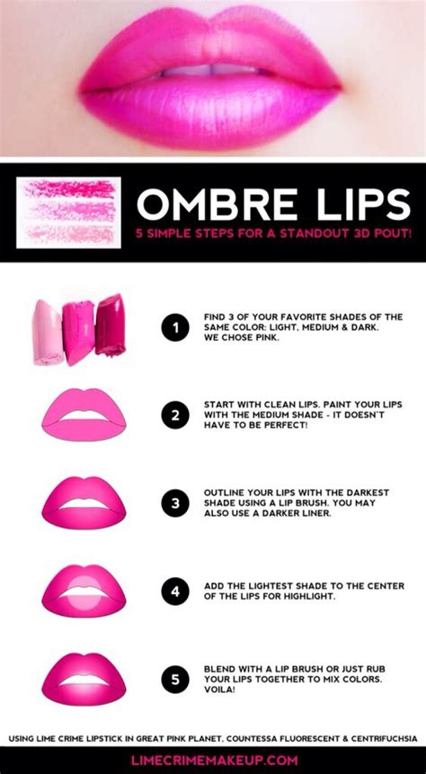 ombre lip tutorial beautiful ombre lips tutorial some eyeshadows