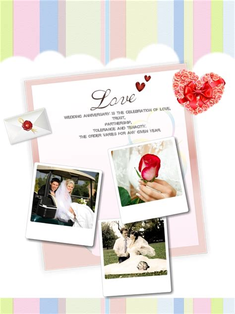 3 year anniversary card template anniversary collage card add on templates free