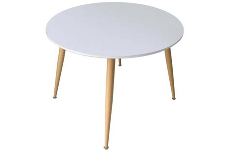 meuble salon conforama 2769 table scandinave 110cm de diam 232 tre bois laqu 233 blanc arnes