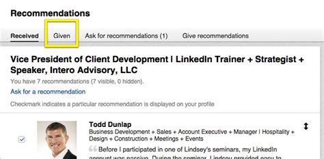 what happened to linkedin recommendations intero advisory