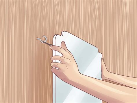 where to hang mirrors how to hang a mirror with pictures wikihow
